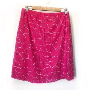 BODEN pink cotton Print Skirt